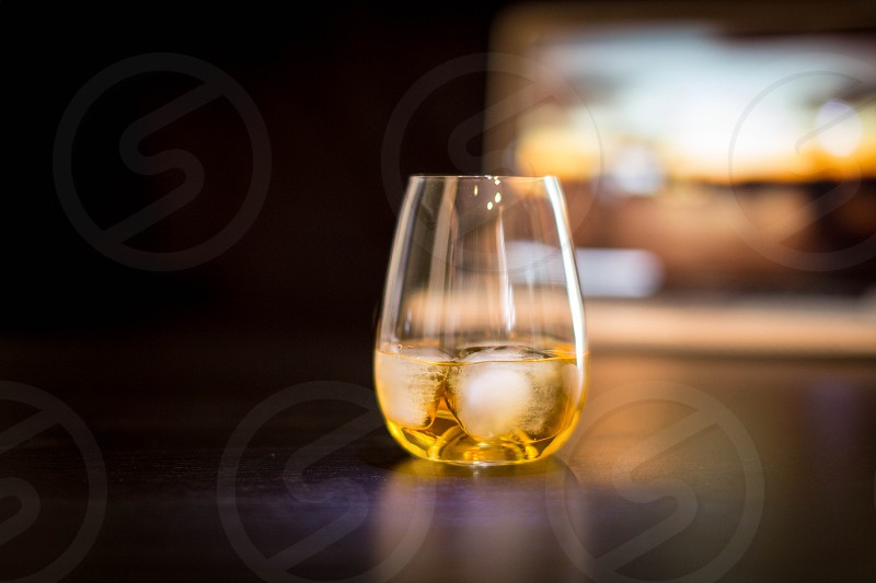clear drinking glass photo