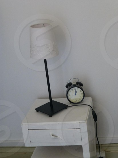 Simple bedside lamp. photo