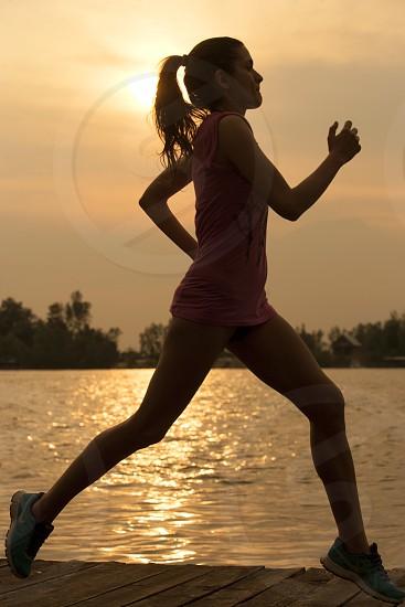 Woman running photo