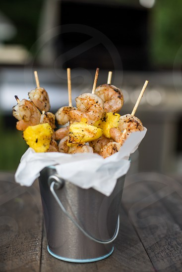 Grilled Shrimp and Pineapple in a Tin photo