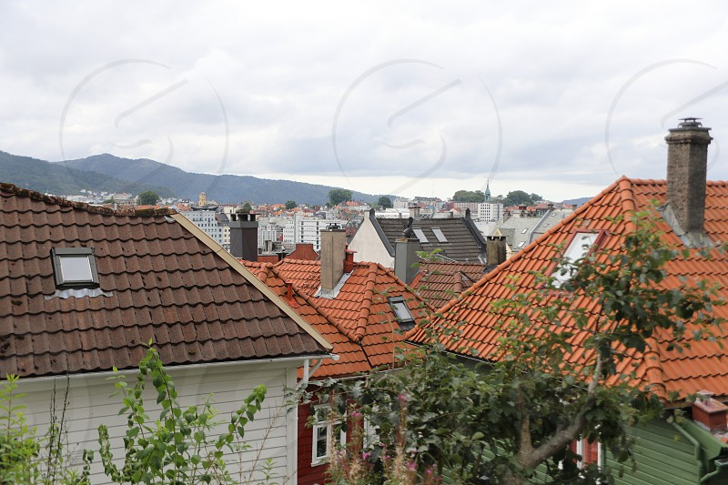 traditional houses in bergen Norway photo