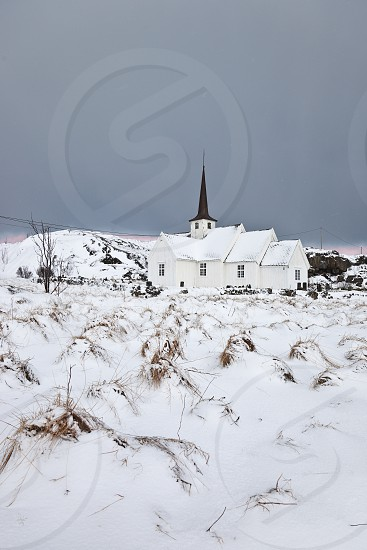langenes church. vesteralen island. norway photo