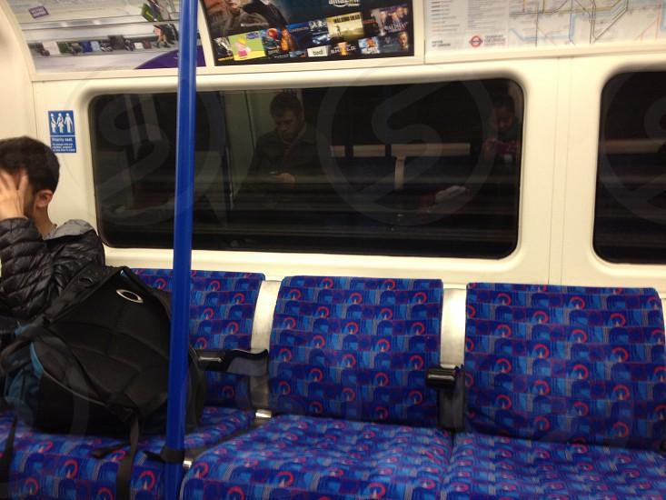 Travel tube reflection photo