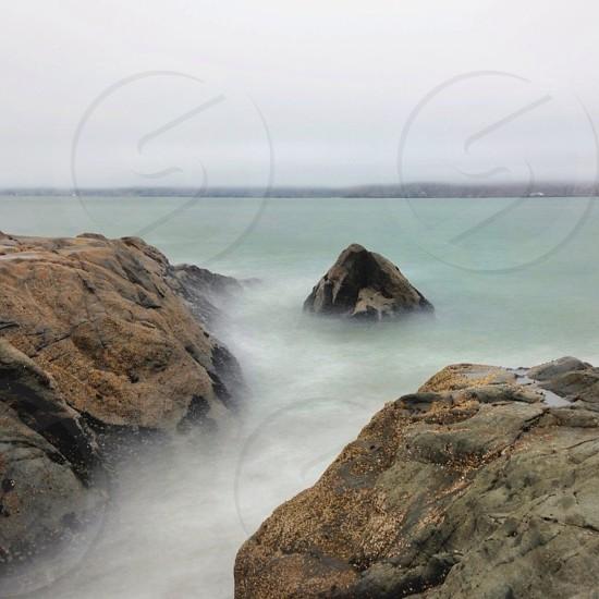 gray rocks photo