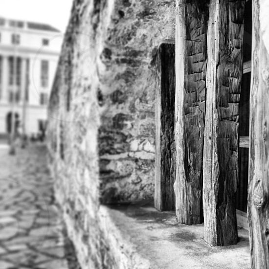 Taken at the Alamo in San Antonio Texas. Alamo Post Office Bars Fort Wood Bars. photo