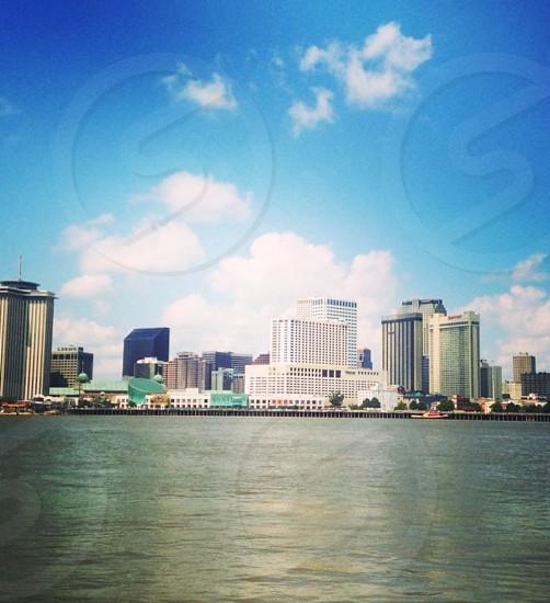 New Orleans skyline winsy high effect photo
