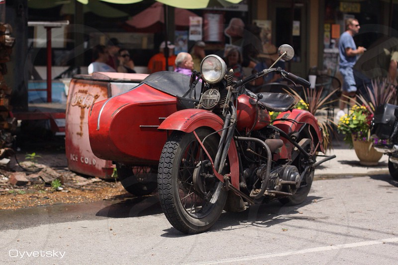 red classic trike parked photo