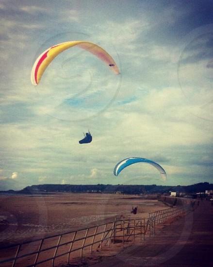 Kitehand glide  adventure fun sport thrill  extreme sport   photo