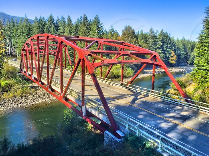 Mt.Si Bridge over the Snoqualmie River Washington photo