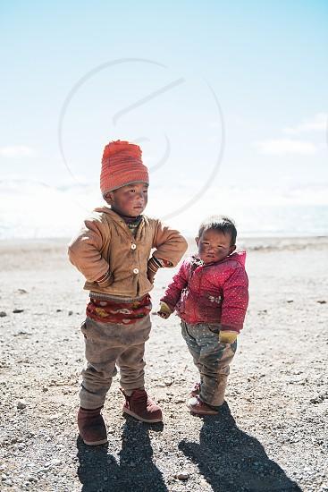 Tibet children nature Asia photo