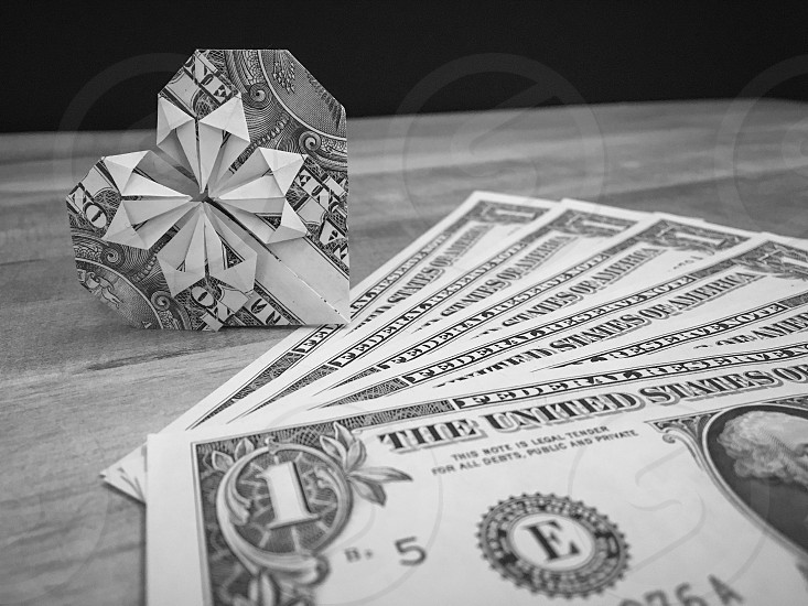 Money oragami photo