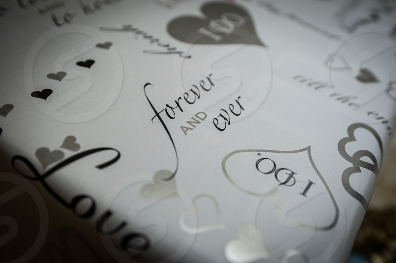 Wedding gift wrapping photo