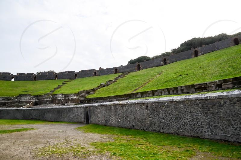 Amphitheatre of Pompeii Naples Italy photo