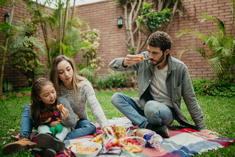 Spanish family picnic. photo