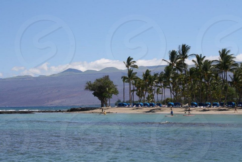 Kona. Pacific Ocean Hawaii beach tropical landscape. photo