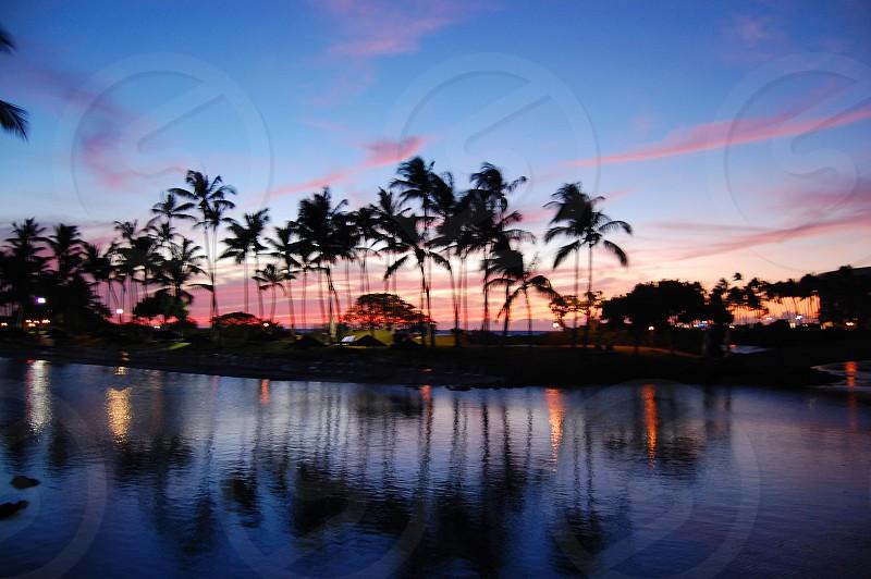 hawaii travel sunset sky landscape photo