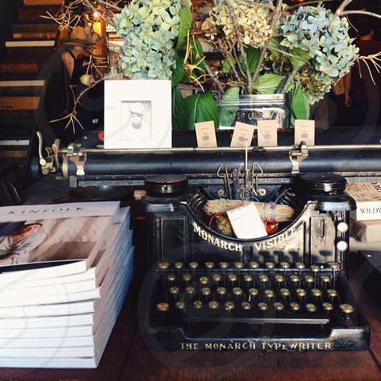 black the monarch typewriter photo