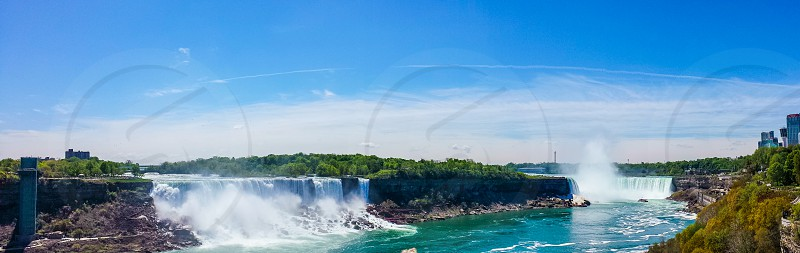 Beautiful  nature view River water and sky Niagara Falls Canada photo