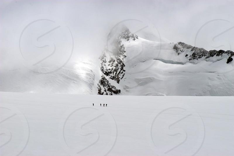 snowy mountain photo