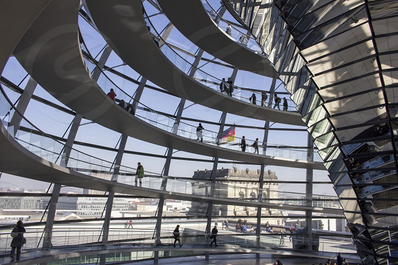 Reichstagsgebäude Berlin Germany. A splendid revival of the burned down Reichstag. photo