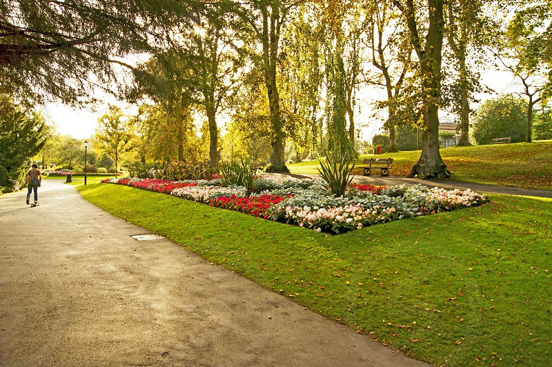 UK.ENGLAND. HARROGATE Yorkshire. The valley gardens which contains many of the natural springs for which the town is famous for. photo