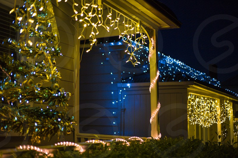 Christmas lights in New Zealand. photo