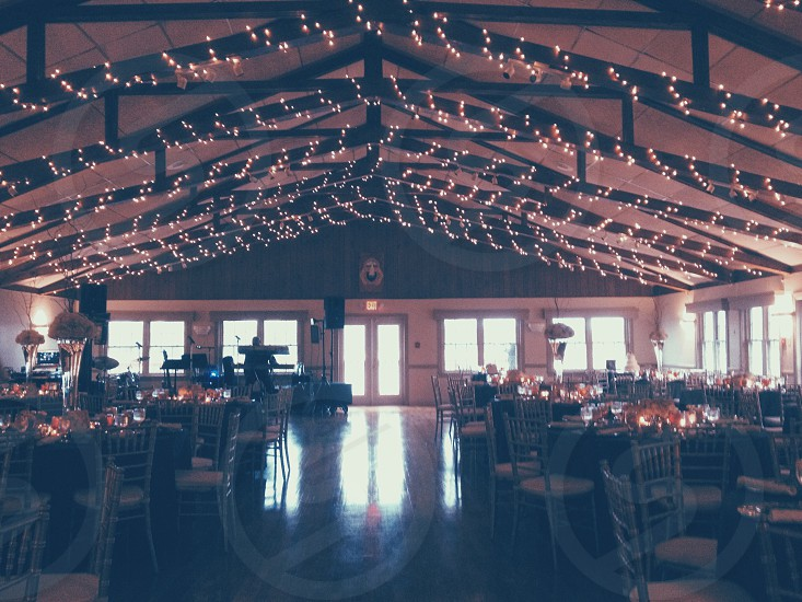 Wedding reception before it starts.  photo