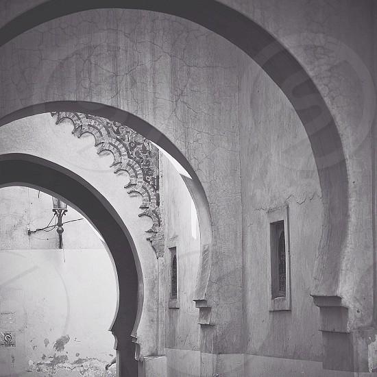 Gray concrete wall textile photo
