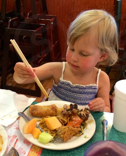 First Chopsticks Chinese Dinner photo