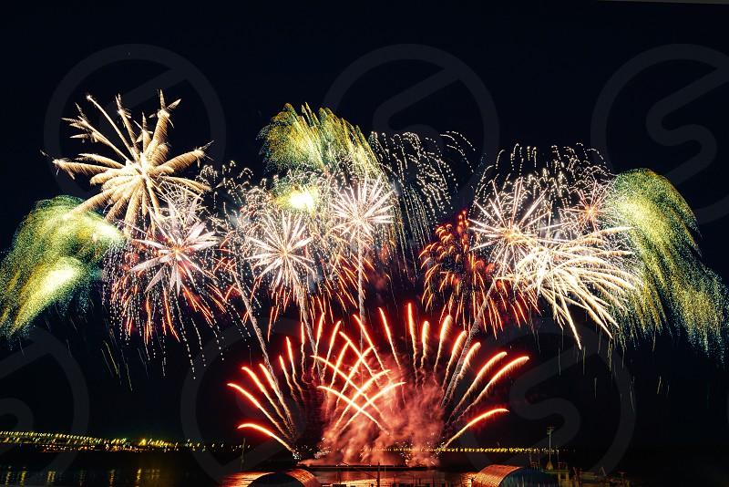 Fireworks in Saratov Russia photo