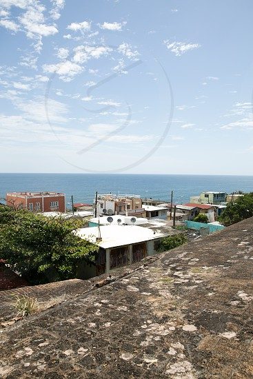 view of houses near ocean photo