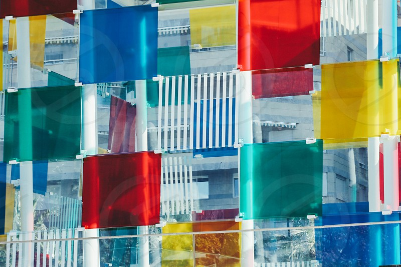 Colorful George Pompidou  Malaga  transparency  composition  facade photo