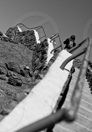 Climbing The Stairs at Haleakala Volcano photo