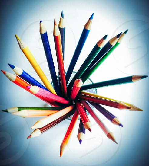 Colored Pencils Overview with Special Effects photo