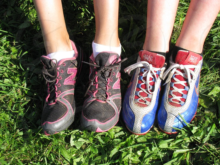 Cross country running shoes grass  photo