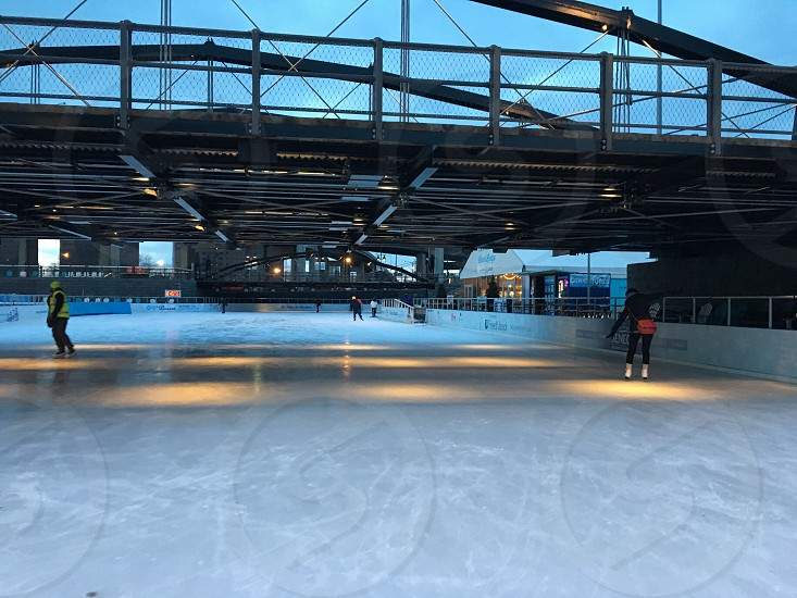 Ice Rink outdoors winter sports photo