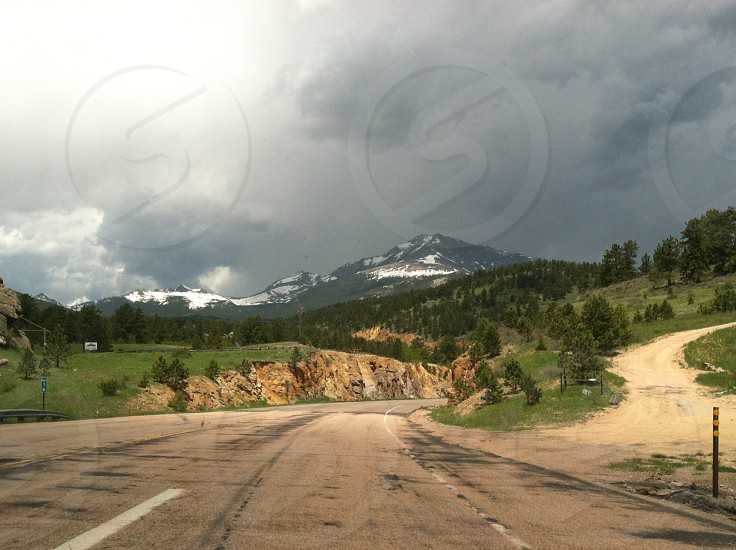 Driving through the Rockies  photo