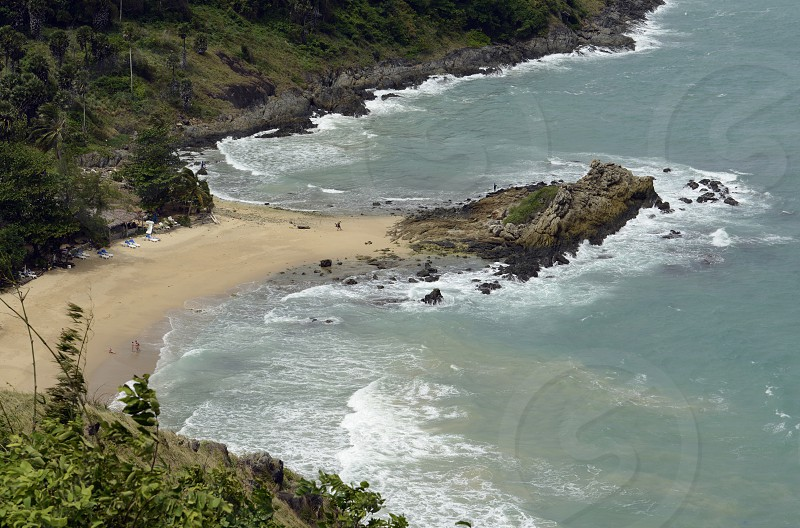 the Hat Nai Harn Beach in the south on the Phuket Island in the south of Thailand in Southeastasia. photo