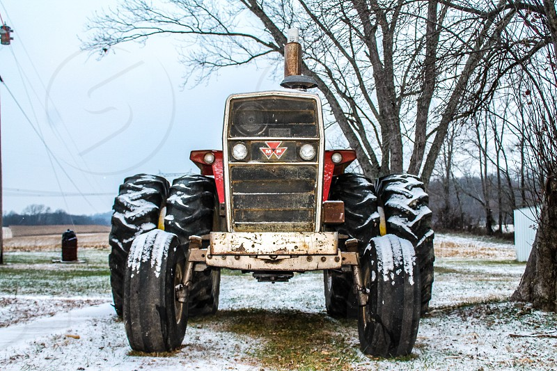 Massey Ferguson tractor snow winter headlights  photo