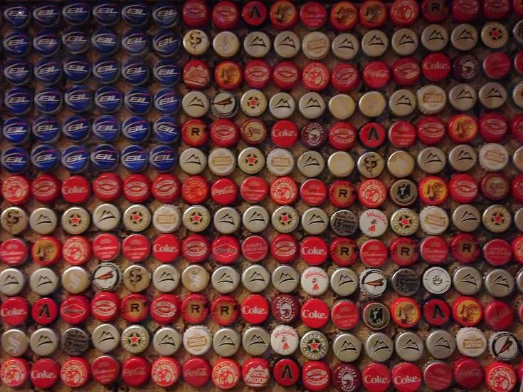 assorted color bottle crown cap collection photo