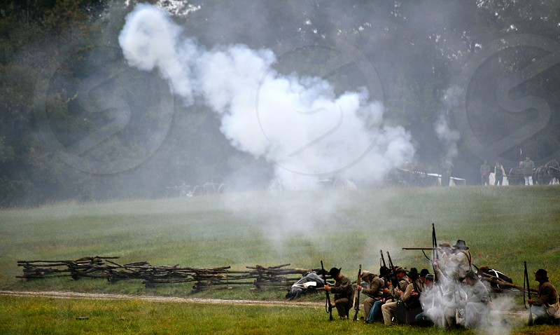 Civil War Re-enactment at Fort Recovery Ohio - USA photo