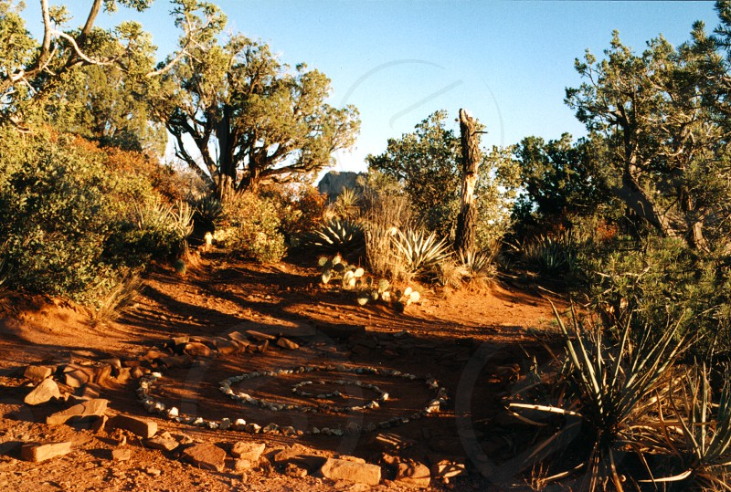 Rachel's Rock Medicine Wheel  Sedona AZ USA photo
