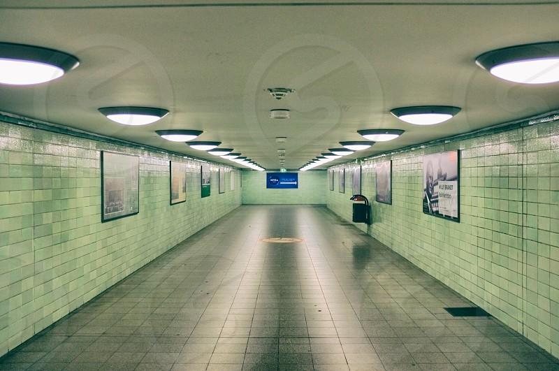 white round ceiling light photo