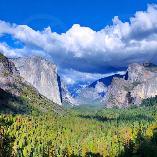 El Capitan in Yosemite National Park America. photo