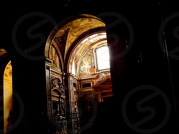 Light in a Cathedral Rome Italy. photo