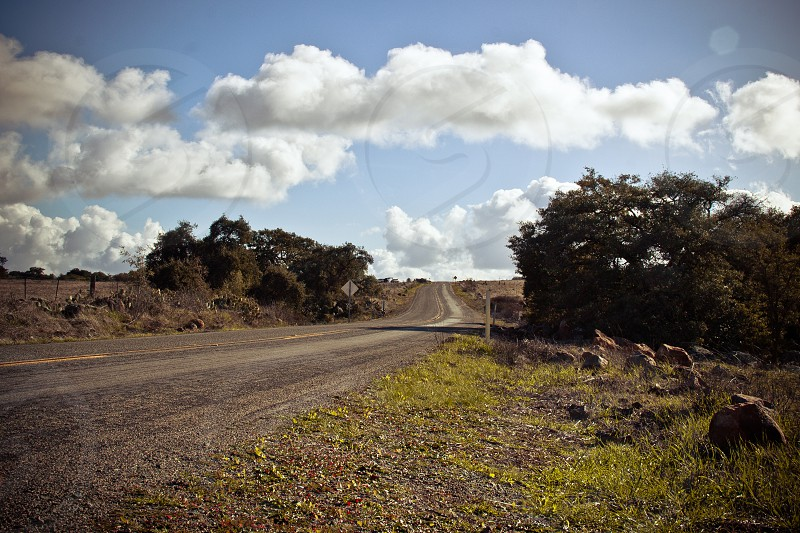 road and sky view photo