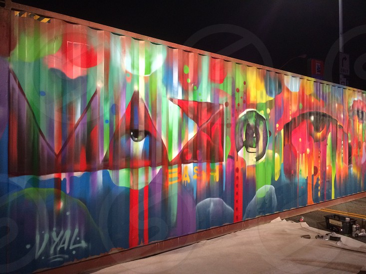 multicolored graffiti photo