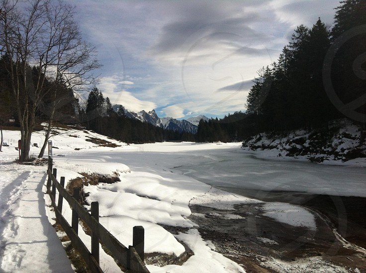 winter lake photo