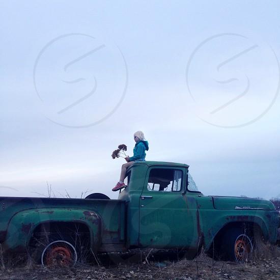 green truck photo