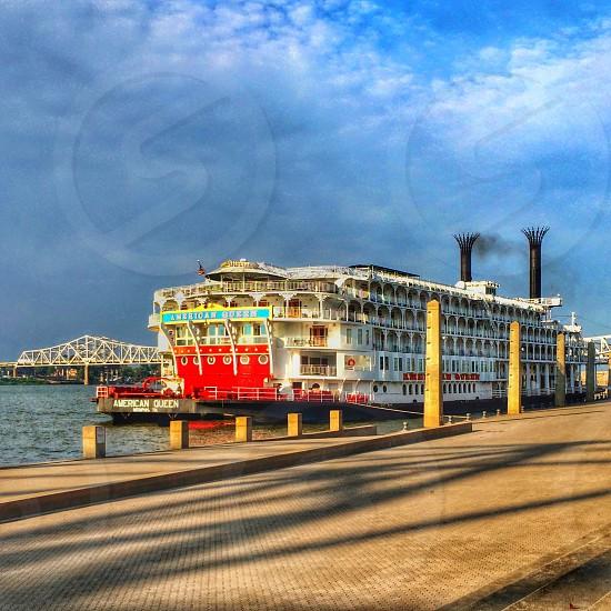 American Queen Riverboat docked in Louisville KY photo